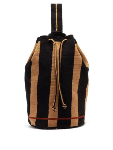 Matchesfashion.com Guanabana - Tula Augustine Stripe-woven Backpack - Mens - Navy