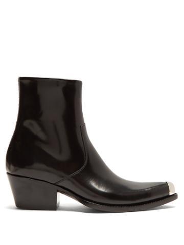 Calvin Klein 205w39nyc Tex Chiara Leather Ankle Boots