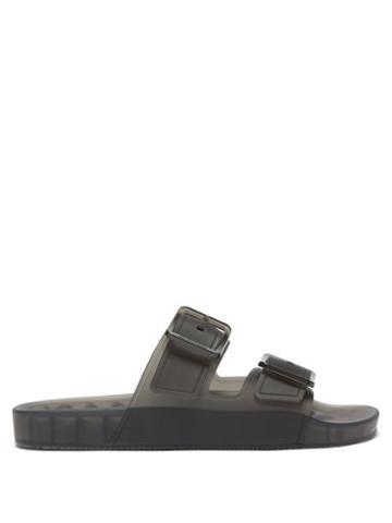 Balenciaga - Mallorca Semi-opaque Rubber Sandals - Mens - Black