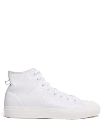 Matchesfashion.com Adidas Originals - Nizza High Top Leather Trainers - Mens - White