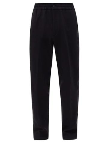 Matchesfashion.com Dunhill - Striped Jersey Track Pants - Mens - Black