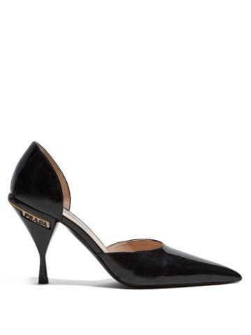 Matchesfashion.com Prada - Patent Leather D'orsay Pumps - Womens - Black