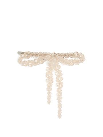 Simone Rocha Bow Bead-embellished Hair Clip