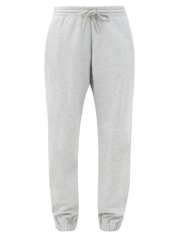 Matchesfashion.com Wardrobe. Nyc - Release 02 Drawstring-waist Cotton Track Pants - Womens - Light Grey