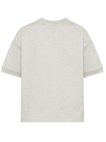 Matchesfashion.com Raey - Short Sleeved Cotton Sweatshirt - Mens - Grey