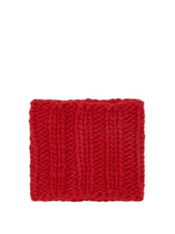 Jw Anderson - Ribbed-knit Wool Snood - Womens - Red