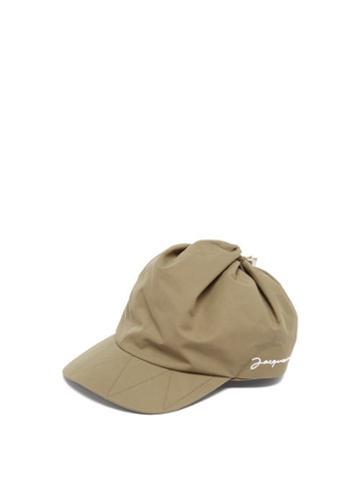 Jacquemus - Casquette Logo-embroidered Cotton-blend Cap - Mens - Green