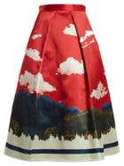 Undercover Full Printed Silk Skirt