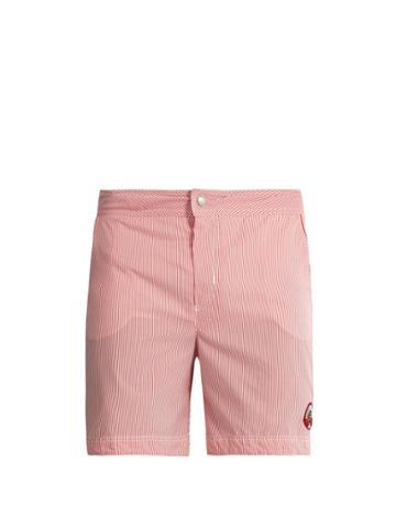 Robinson Les Bains Oxford Long Striped Swim Shorts