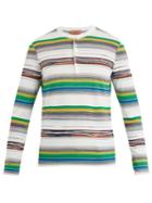 Missoni Open-neck Stripe Knit Cotton Sweater