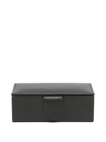Matchesfashion.com Smythson - Panama Mini Leather Cufflink Box - Mens - Black