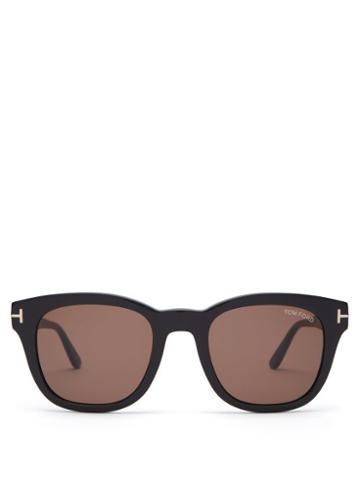 Matchesfashion.com Tom Ford Eyewear - Eugenio Round Frame Acetate Sunglasses - Mens - Black