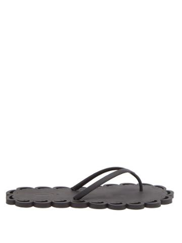 Ladies Shoes Carlotha Ray - Laser-cut Scented-rubber Flip Flops - Womens - Black