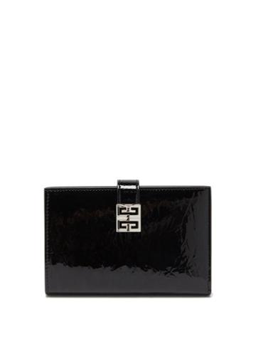 Givenchy - 4g-engraved Patent-leather Bifold Wallet - Womens - Black