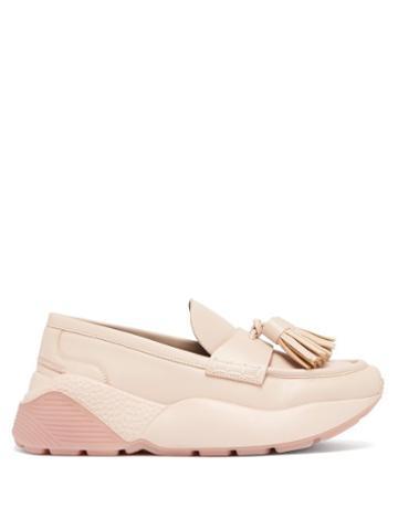 Matchesfashion.com Stella Mccartney - Faux Leather Flatform Loafers - Womens - Pink