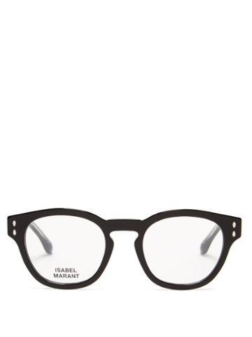 Matchesfashion.com Isabel Marant Eyewear - Trendy Round Acetate Glasses - Womens - Black