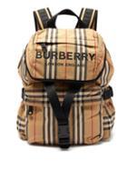 Matchesfashion.com Burberry - Wilfin Small Icon Stripe Backpack - Womens - Beige Multi