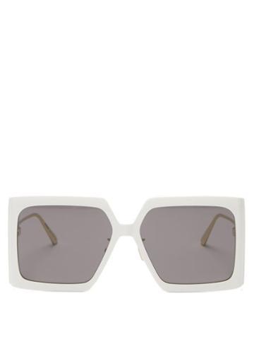 Matchesfashion.com Dior - Diorsolar Square Acetate Sunglasses - Womens - White