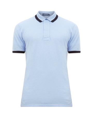 Matchesfashion.com Frescobol Carioca - Trimmed Cotton Piqu Polo Shirt - Mens - Navy Multi