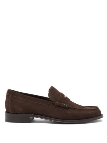 Matchesfashion.com Paul Smith - Lucky Suede Penny Loafers - Mens - Brown