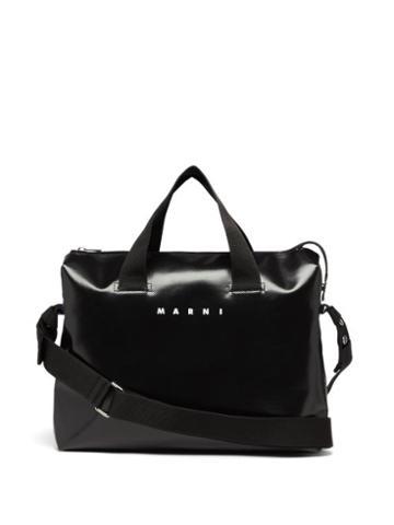 Mens Bags Marni - Tribeca Bi-colour Pvc Messenger Bag - Mens - Black