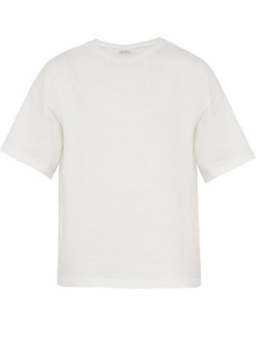 Matchesfashion.com Raey - Oversized Cotton Jersey T Shirt - Mens - White