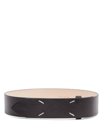 Matchesfashion.com Maison Margiela - Four-stitches Leather Belt - Womens - Black