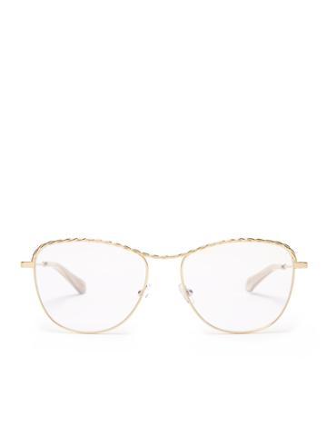 Chloé Square-frame Metal Glasses