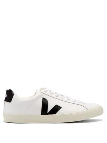Matchesfashion.com Veja - Esplar Low Top Leather Trainers - Mens - White Black