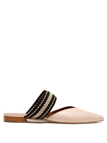 Roksanda X Malone Souliers Hannah Leather Backless Flats