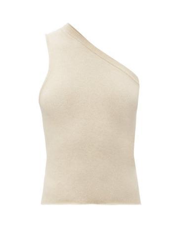 Matchesfashion.com Extreme Cashmere - No.108 Asymmetric Stretch-cashmere Sweater - Womens - Cream