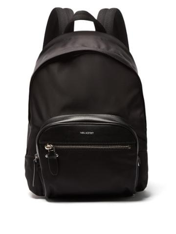 Matchesfashion.com Neil Barrett - Classic Leather Trimmed Nylon Backpack - Mens - Black