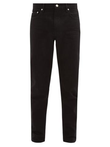 Matchesfashion.com Burberry - Straight Leg Cotton Blend Jeans - Mens - Black