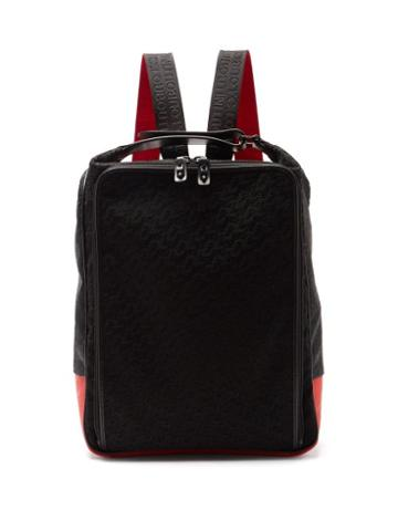 Matchesfashion.com Christian Louboutin - Hop'n'zip Logo-embossed Canvas Backpack - Mens - Black