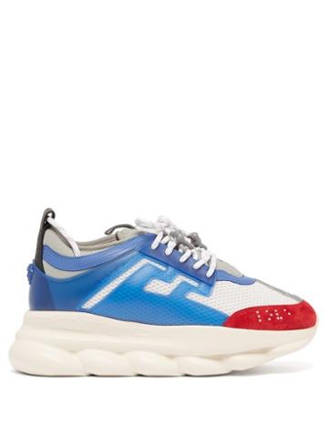 Matchesfashion.com Versace - Chain Reaction Mesh Trainers - Mens - Red White
