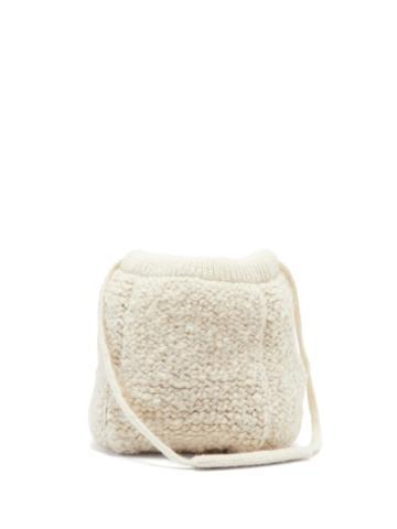Matchesfashion.com Jil Sander - Knitted Wool Shoulder Bag - Womens - White
