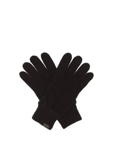 Paul Smith - Logo-tab Cashmere-blend Gloves - Mens - Black