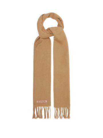 Acne Studios - Canada Skinny New Wool Scarf - Womens - Camel