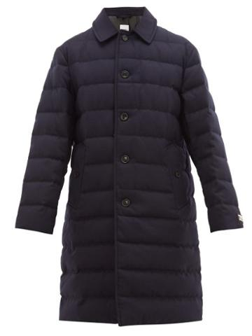 Matchesfashion.com Burberry - Down Filled Wool Coat - Mens - Navy
