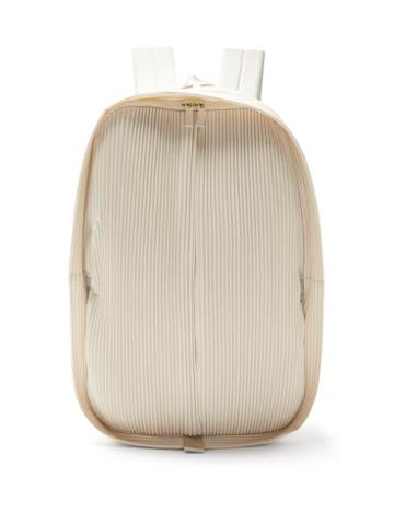 Matchesfashion.com Homme Pliss Issey Miyake - Technical-pleated Jersey Backpack - Mens - White