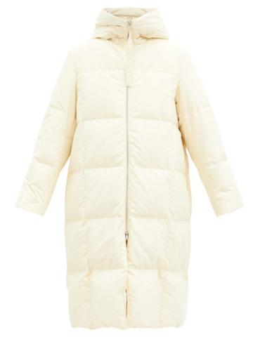 Matchesfashion.com Jil Sander - Harness-strap Quilted-down Shell Hooded Coat - Womens - Cream