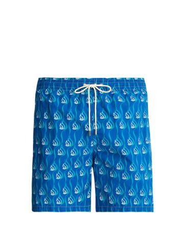 Le Sirenuse, Positano Snail-print Swim Shorts