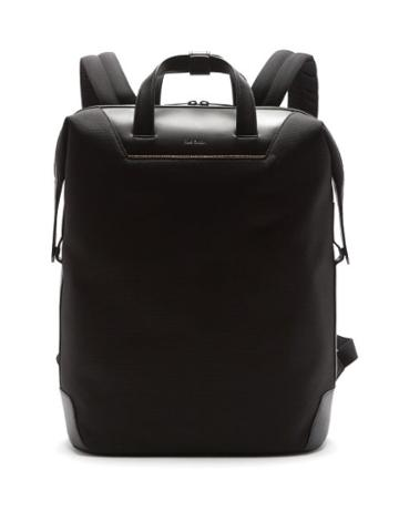 Matchesfashion.com Paul Smith - Logo-embossed Leather And Mesh Backpack - Mens - Black
