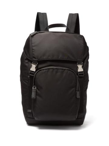 Matchesfashion.com Prada - Buckled Nylon Backpack - Mens - Black