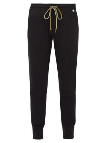 Matchesfashion.com Paul Smith - Cotton Straight Leg Track Pants - Mens - Black