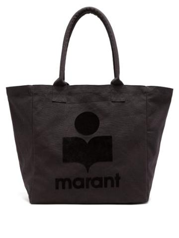 Matchesfashion.com Isabel Marant - Yenky Logo-applique Canvas Tote - Womens - Black