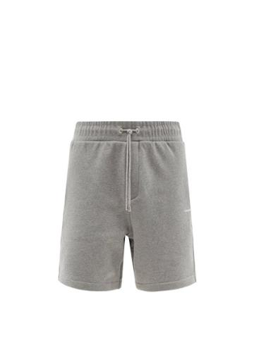 Matchesfashion.com Frame - Drawstring-waist Cotton-blend Jersey Shorts - Mens - Grey
