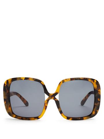 Karen Walker Eyewear Marques Oversized Tortoiseshell Sunglasses