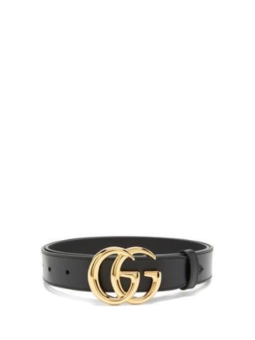 Matchesfashion.com Gucci - Logo-buckle Leather Belt - Mens - Black