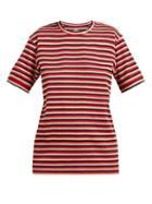 Matchesfashion.com Holiday Boileau - Hardy Striped Stretch Cotton T Shirt - Womens - Red Multi